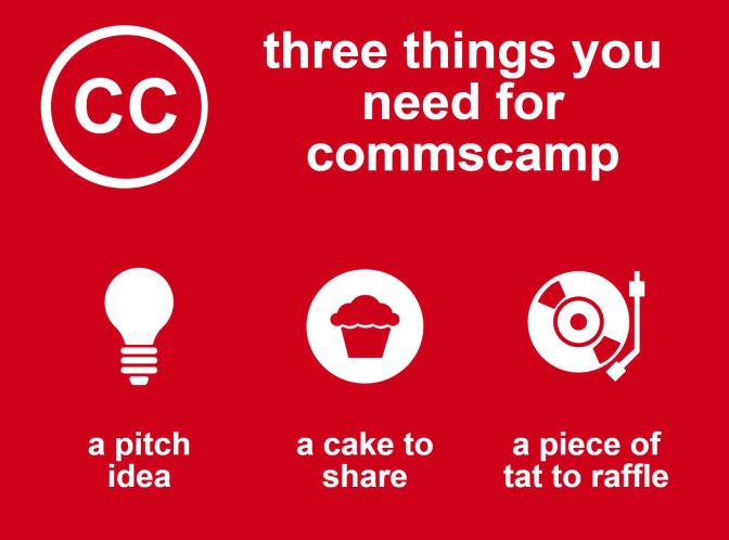 BLOG: Three things you need for #commscamp